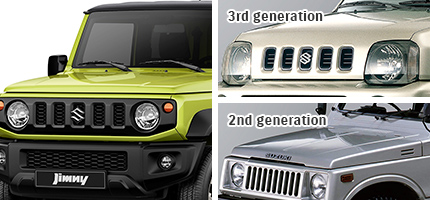Jimny exterior grille