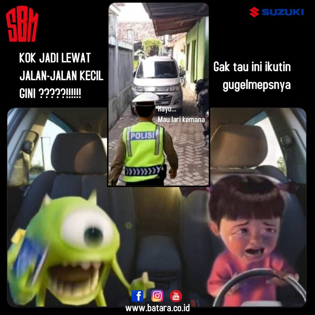 lewat Jalan Sempit Suzuki SBM